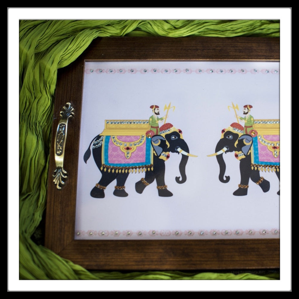 Royal Elephants Rectangular Tray - Footprints Forever