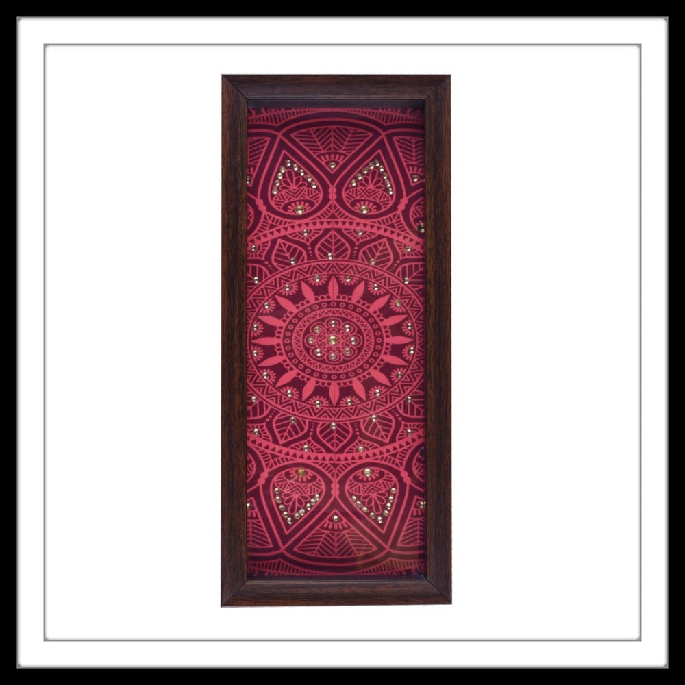 Maroon Mandala Box Tray - Footprints Forever