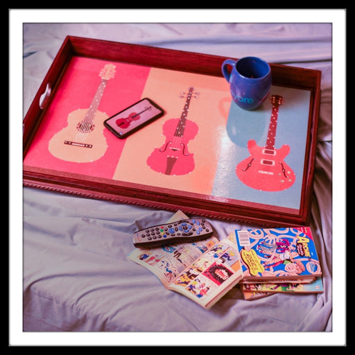 Guitar Butler Tray with Trestle Stand