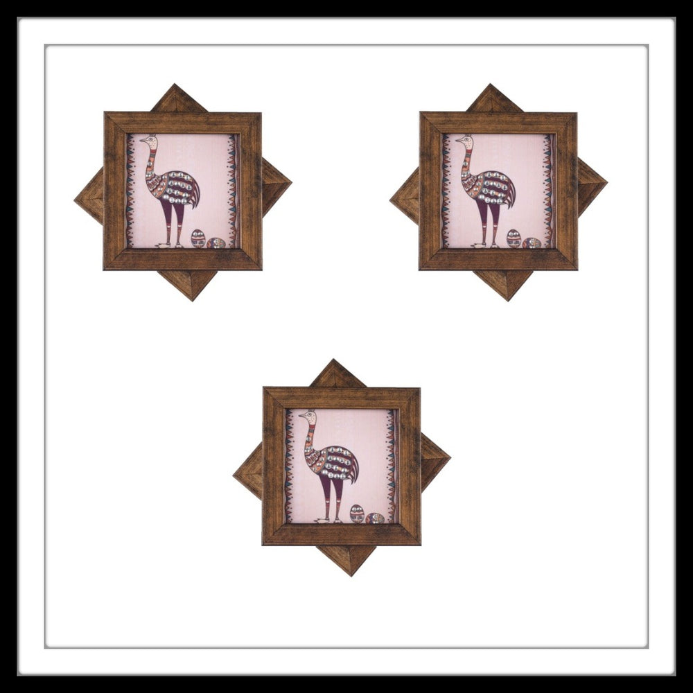 African Ostrich Coasters - Footprints Forever
