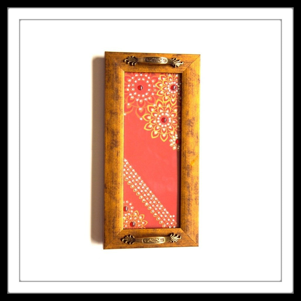 Red & Yellow Mandala Long Tray - Footprints Forever
