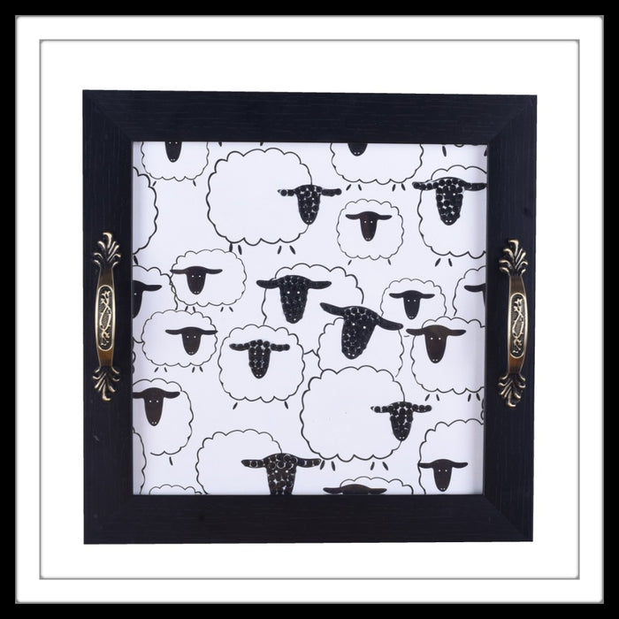 Baa Baa Black Sheep Square Tray