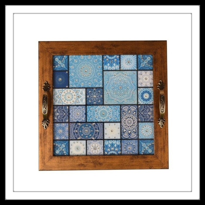 Moroccan Square Tray - Footprints Forever