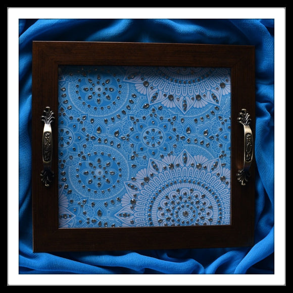 Blue Arabesque Tray