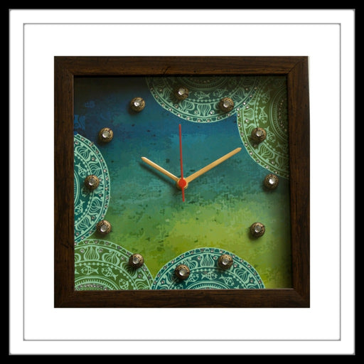 Blue & Green Clock - Footprints Forever