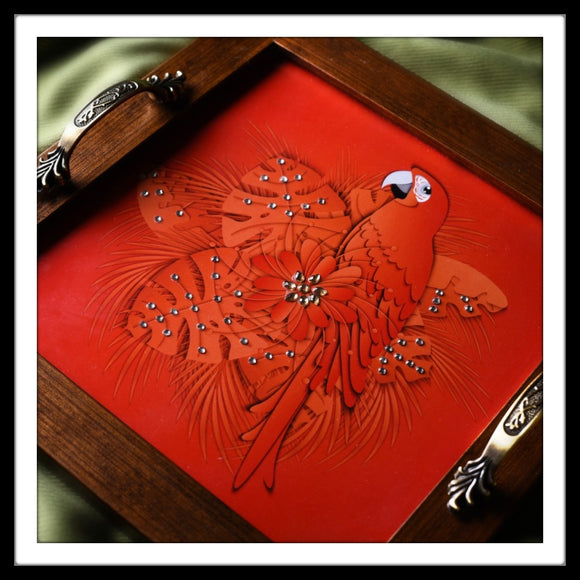 Parrot Square Tray