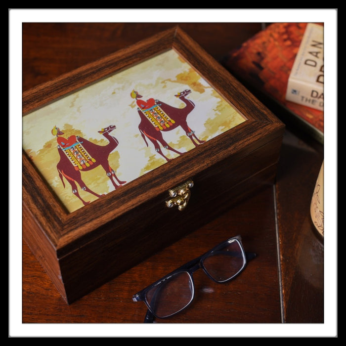 Camel Multipurpose Box (Small) - Footprints Forever