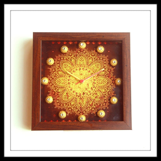 Brown Shibori Clock - Footprints Forever