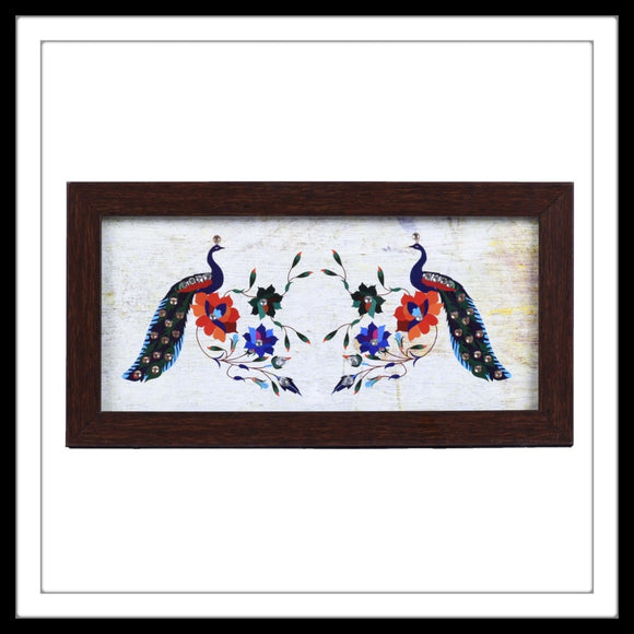 handmade tray with colourful peacock print with diamante ideal for gifting and wedding trousseau