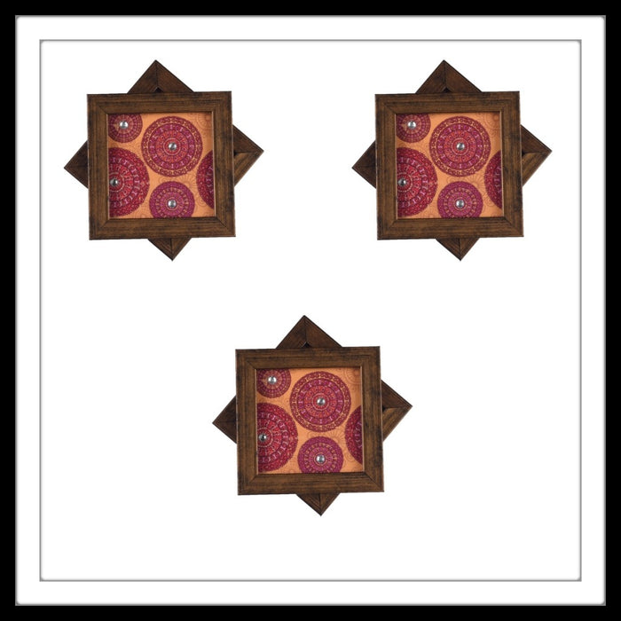 Pink & Yellow Lace Mandala Coasters - Footprints Forever