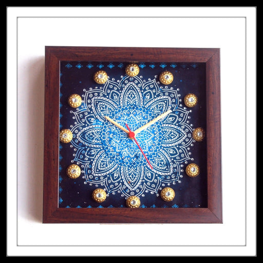 Blue Shibori Clock - Footprints Forever
