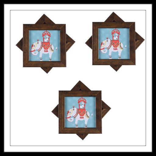 White and Blue Maharaja on Elephant Coasters