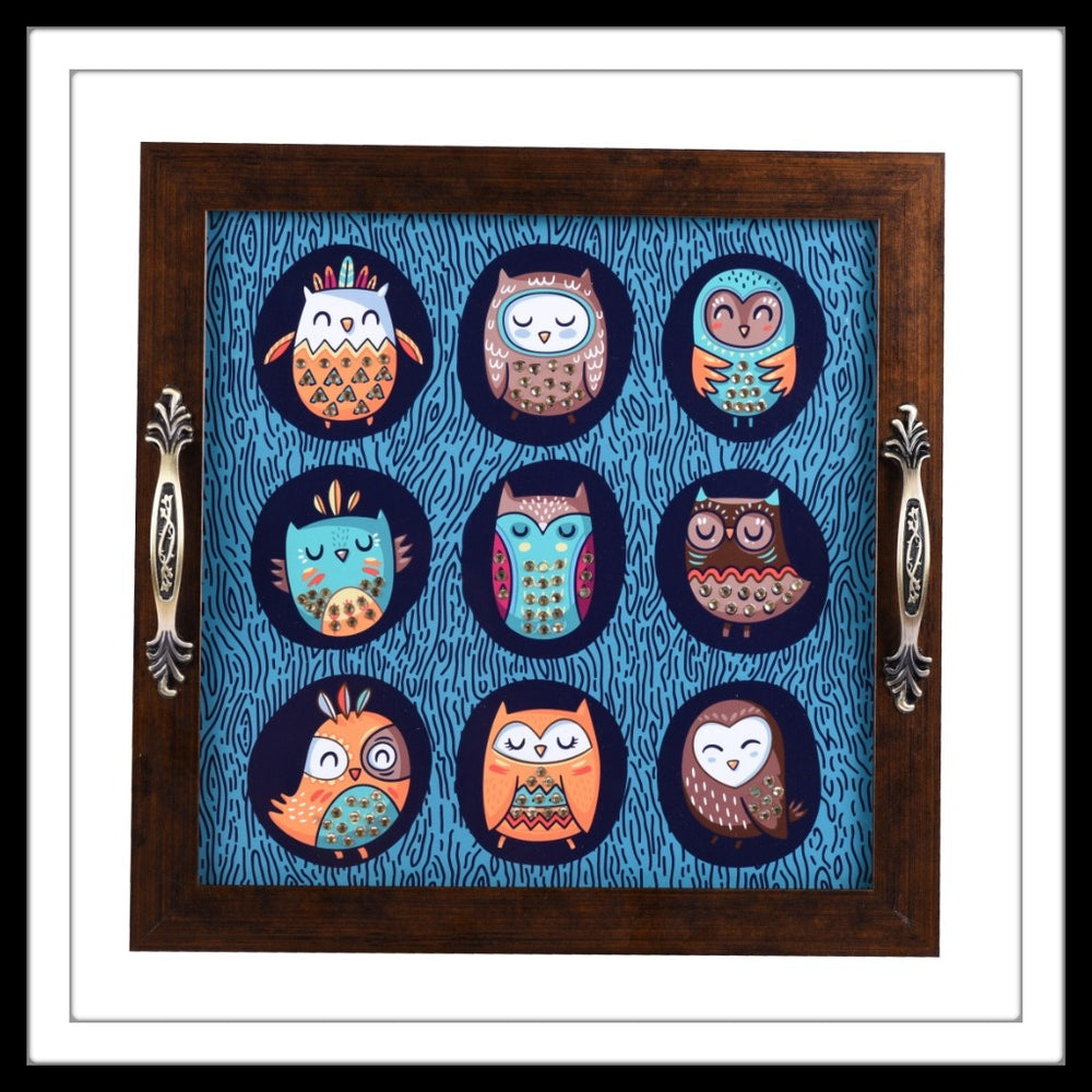 Owl Square Tray
