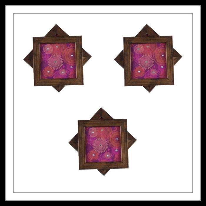 Arabesque Pink Coasters - Footprints Forever