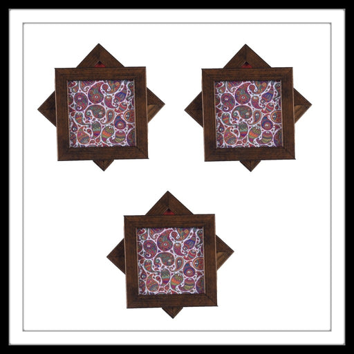 White Multi Paisleys Coasters - Footprints Forever