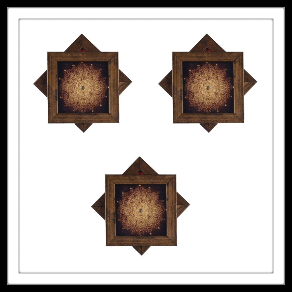 Brown Shibori Coasters - Footprints Forever