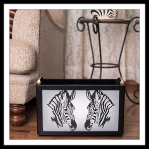 Zebra Magazine Rack
