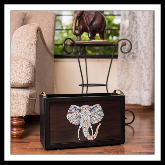 Black Elephant Magazine Rack