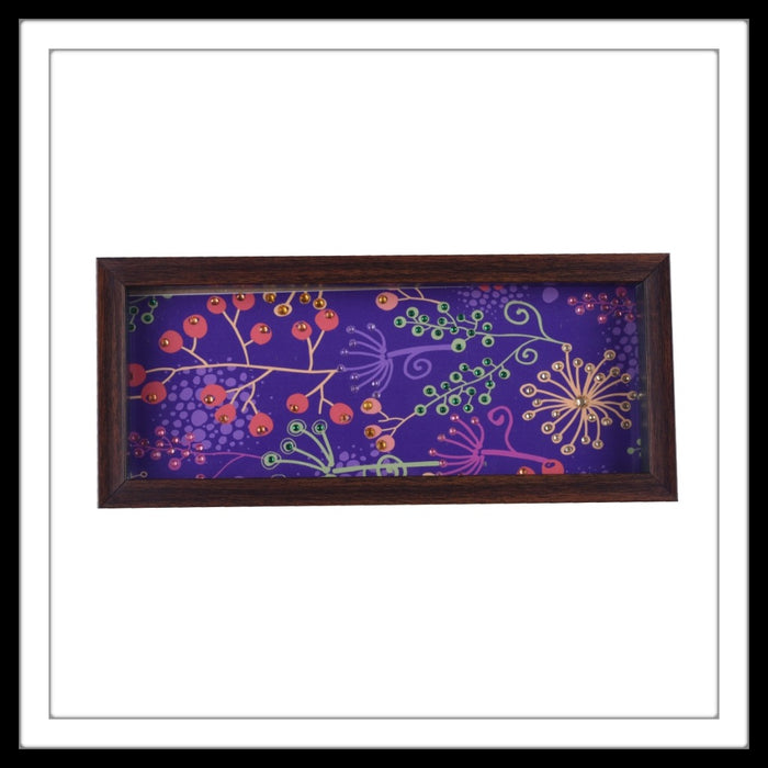 Purple Floral Box Tray - Footprints Forever