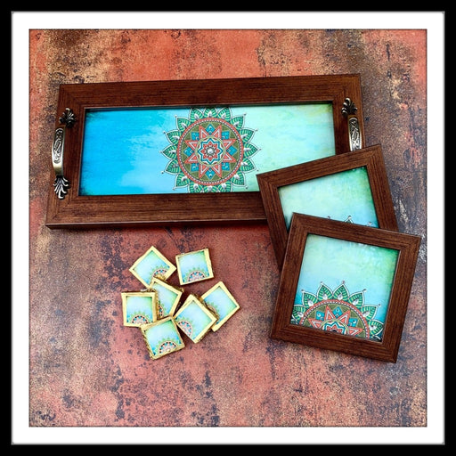 Shaded Blue Mandala Gift Hamper
