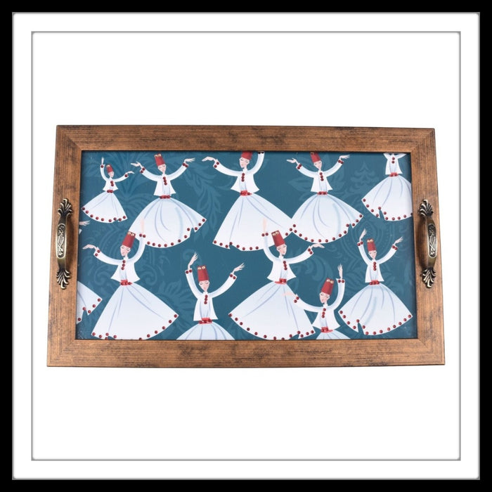 Dancing Dervishes Long Tray - Footprints Forever
