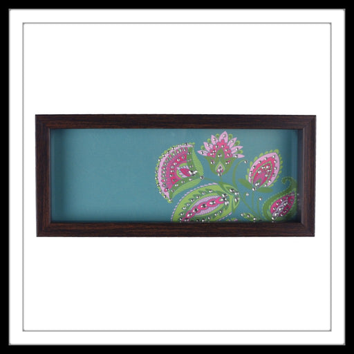 Teal Floral Box Tray - Footprints Forever