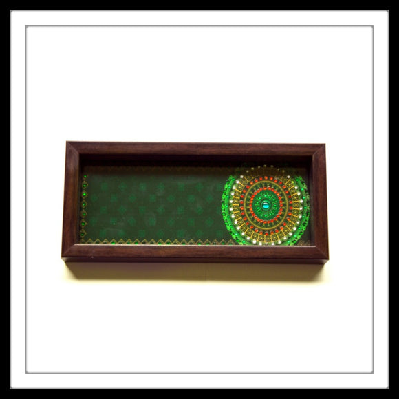 Green Mandala Box Tray