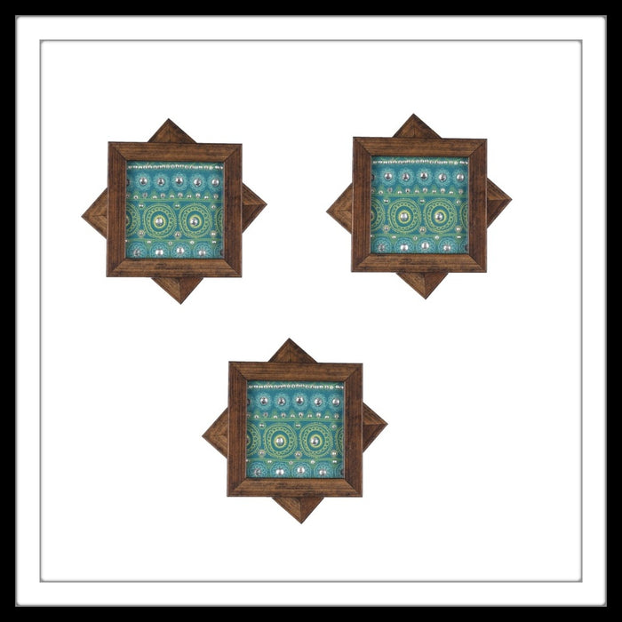 Green Arabesque Coasters - Footprints Forever