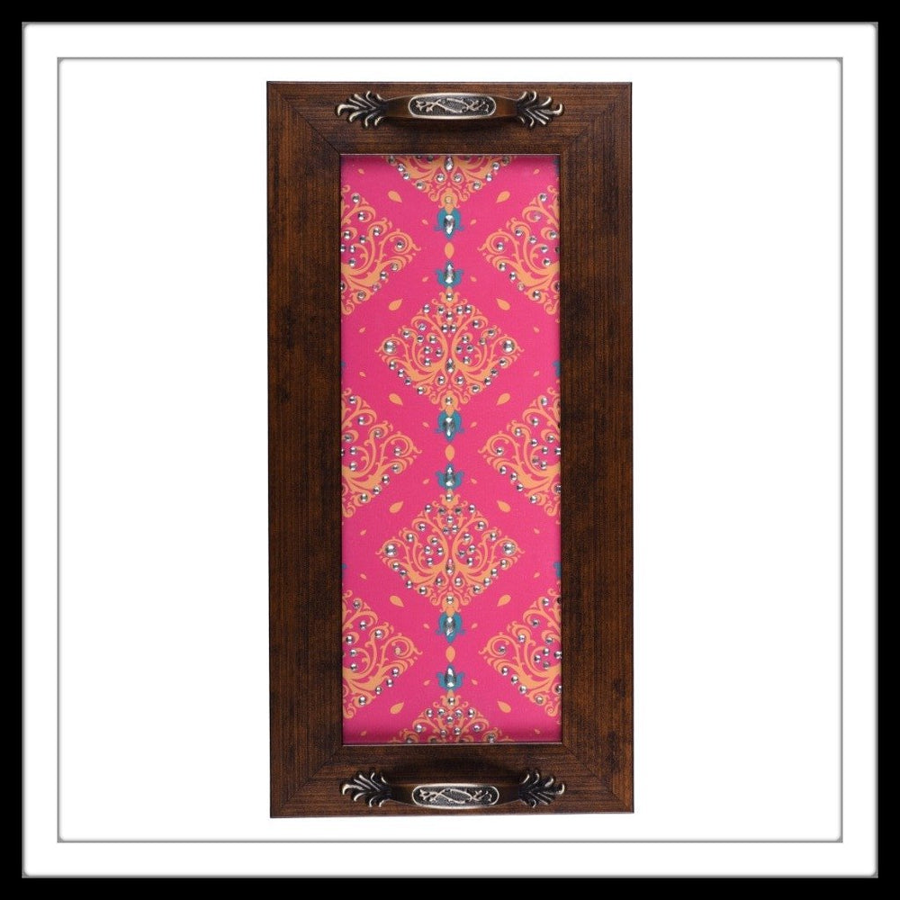 Punch Pink & Yellow Long Tray - Footprints Forever