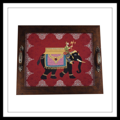 Royal Elephant Rectangular Tray - Footprints Forever