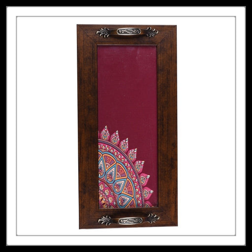 Mahogany Mandala  Long Tray - Footprints Forever