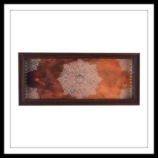 Burnt Orange Mandala Box Tray - Footprints Forever