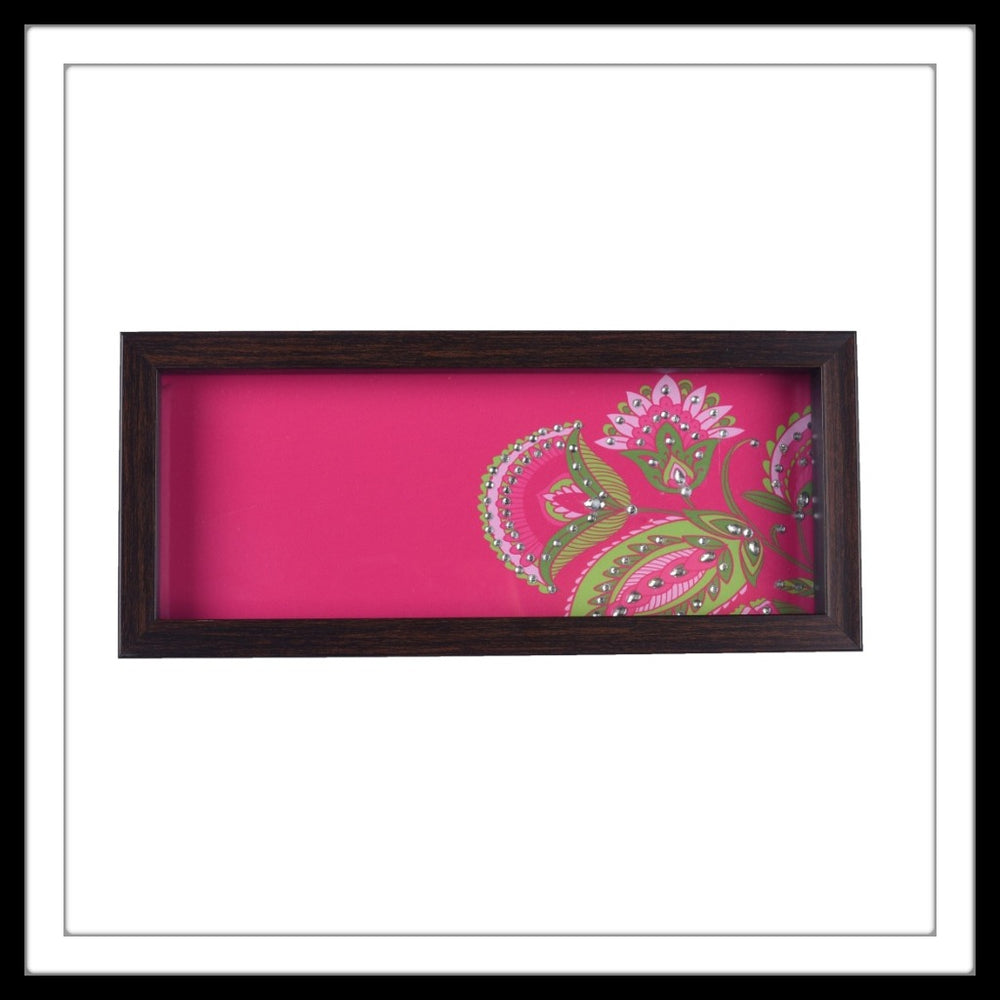 French Rose-Pink Floral Box Tray - Footprints Forever