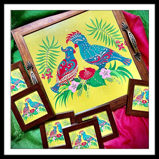 Love Birds Tray and Coasters Set