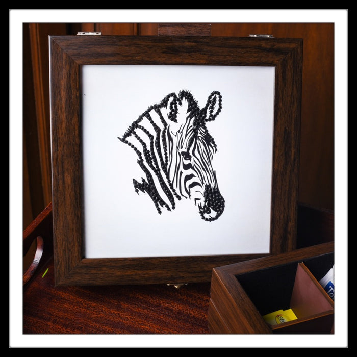 Zebra Tea Chest
