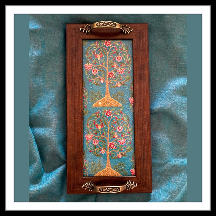 Blue Tree of Life Long Tray