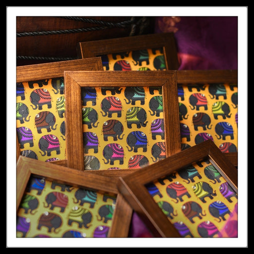 Colourful Elephants Coasters