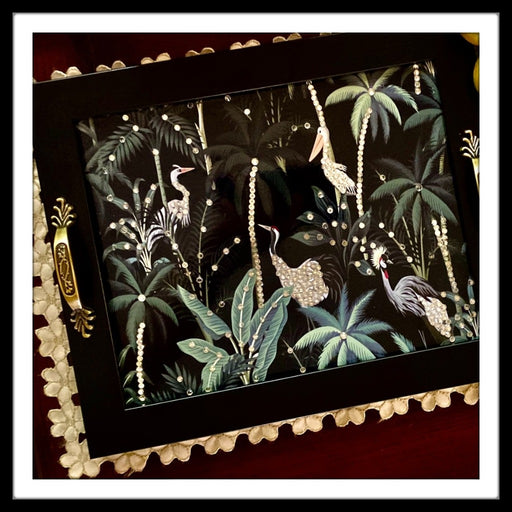 Birds in Paradise Rectangular Tray