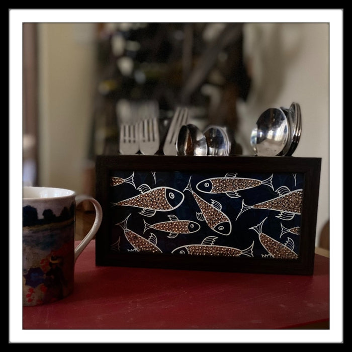 Blue & Beige Fish Organizer