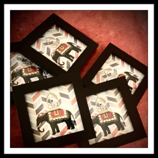 Elephant with Monkey Coasters