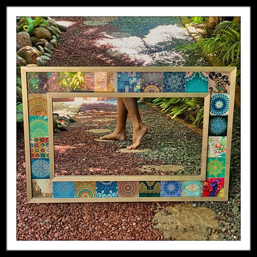 Peacock Handmade Designer Mirror (Small)