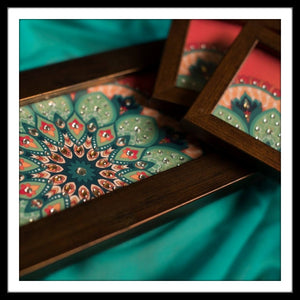 Bright Floral Tray & 2 Coasters Set