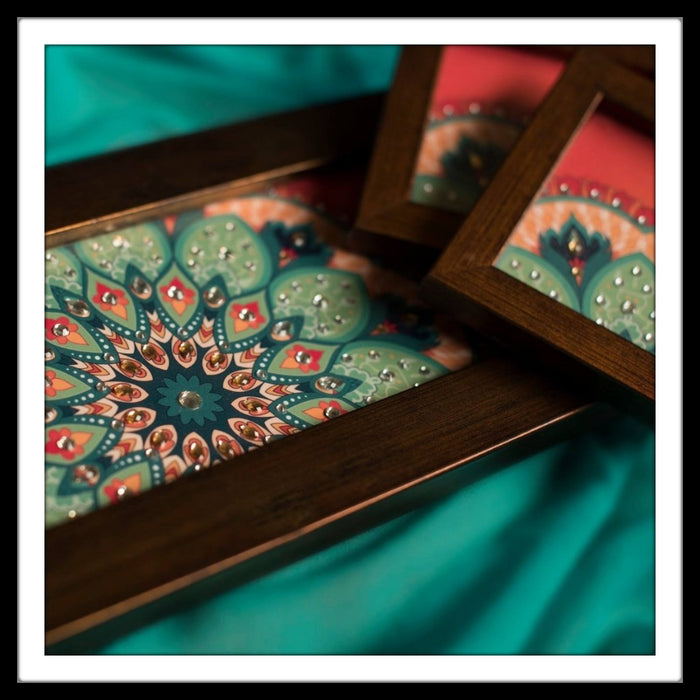 Rose Red Floral Tray & 2 Coasters Set - Footprints Forever