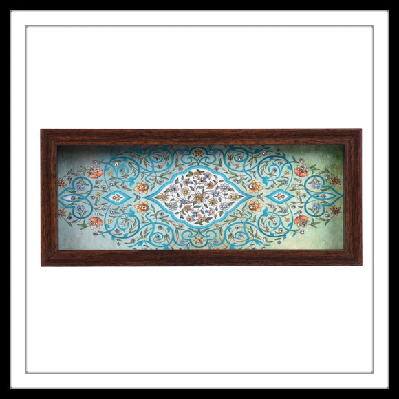 Light Green Mughal Motif Box Tray