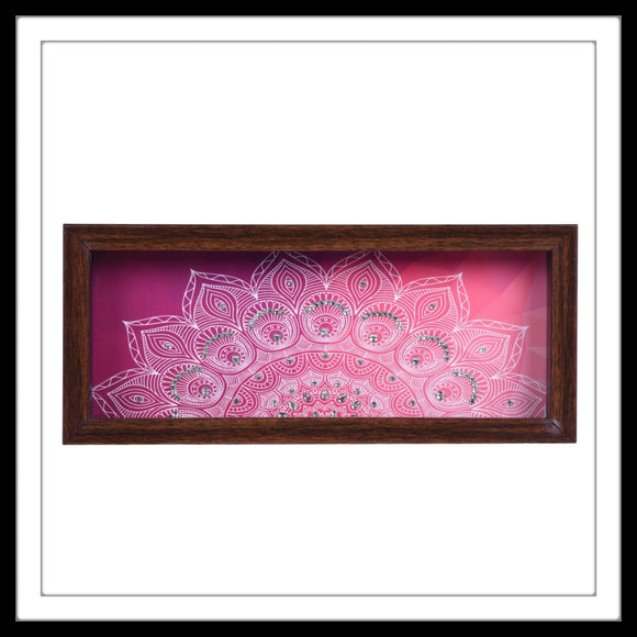 Pink Floral Box Tray