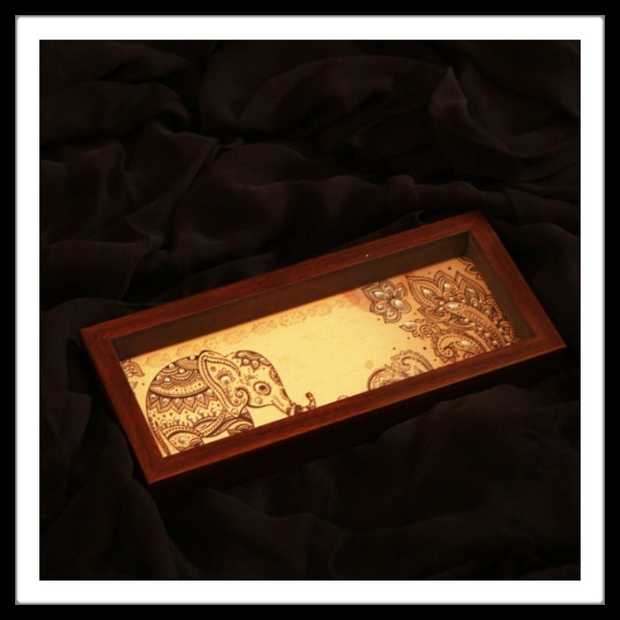 Beige Elephant Box Tray - Footprints Forever