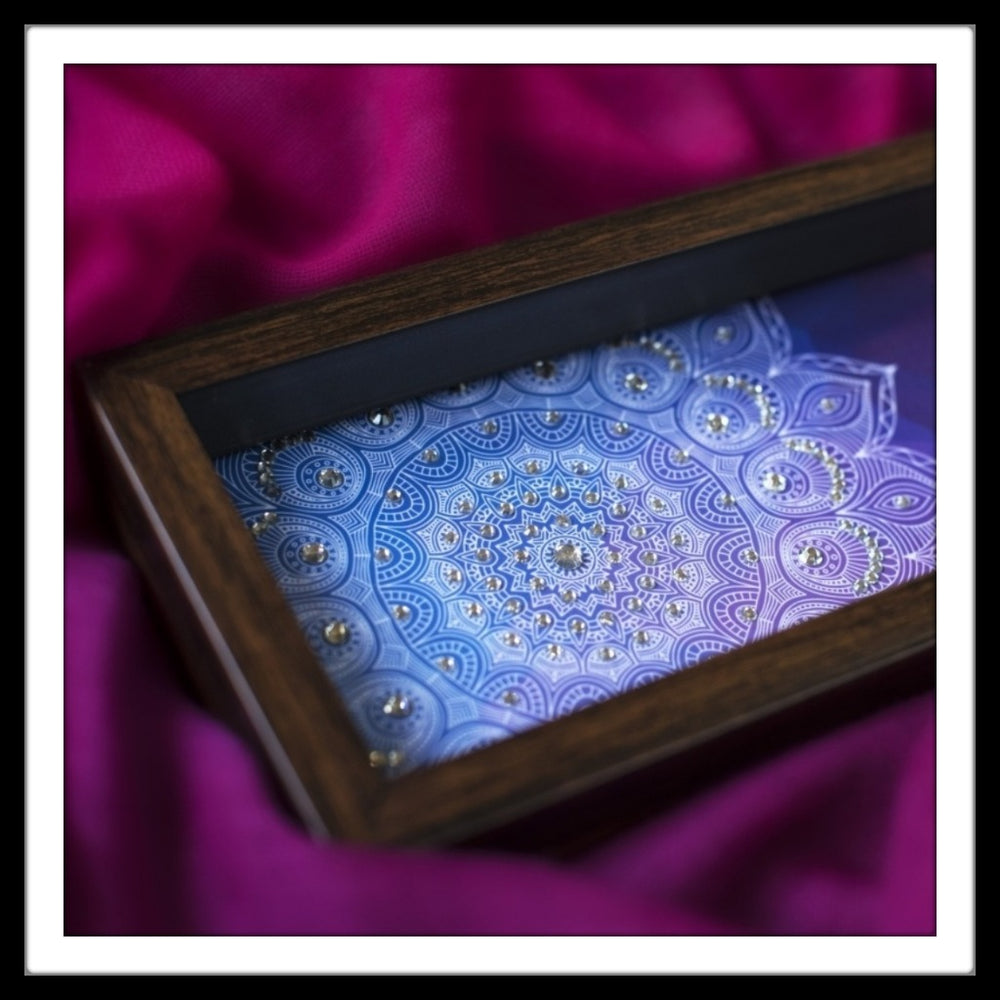 Bright Pink & Blue Box Tray - Footprints Forever