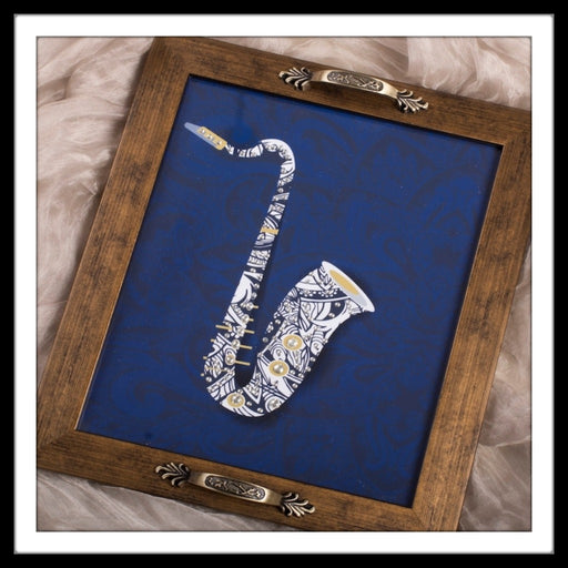 Musical Instruments - Trumpet Rectangular Tray - Footprints Forever