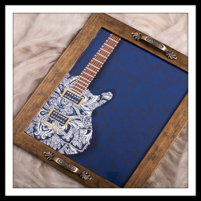 Musical Instruments - Guitar Rectangular Tray - Footprints Forever