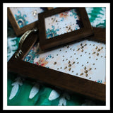 White & Green Tray & 2 Coasters